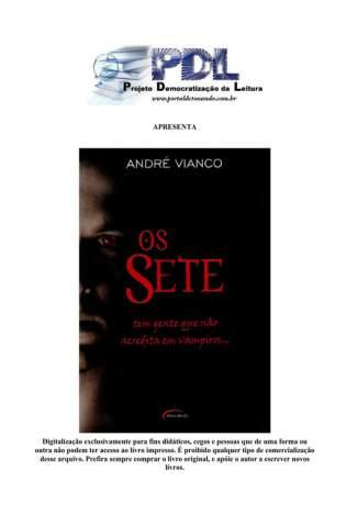 Baixar Livro Os Sete - André Vianco em ePub PDF Mobi ou Ler Online
