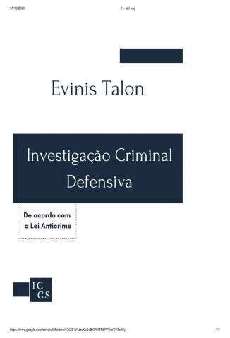 Baixar Livro Investigação Criminal Defensiva - Evinis Talon em ePub PDF Mobi ou Ler Online